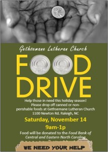 Food Drive poster small